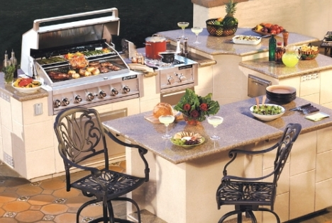 Newport outdoor kitchen island