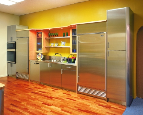 stainless stell kitchen cabinets
